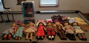 8 Used American Girl Dolls And 1 New Journey Doll