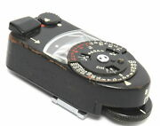 Leica Meter Mr Black Paint Brass Body For Very Early Leica M4 Or M2