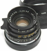 Leica M 2 / 35mm Summicron Black Early Version No. 2461959 With Hood And Caps
