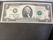 2003 Very Low Serial Number 2 Dollar Bill Star Note In A Holder In High Ms Grade