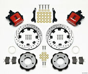 Wilwood Combination Parking Brake Rear Kit 12.19in Drilled Red 2006-up Civic /