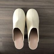 New Cream Wandler Leather Mules Eu 38 Uk 5 Rrp Andpound420