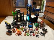 Lot Of Imaginext Batman And Others Playsets Figurines Vehicles Horses Weapons