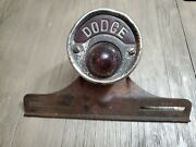 Vintage Dodge Name 20and039s 30and039s 40s Tail Light License Plate Brake Light Rat Rod
