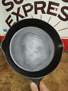 Fully Restored Gate Marked Cast Iron Skillet 11 Seasoned Flat Pre-griswold