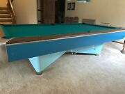 9ft Amf Pool Table Ball Return. Andy 988 Cloth And Dynaspheres Bronze Balls