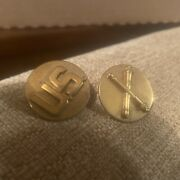 Vintage, Us Army Brass Pin Wwii Antique Plus Us Army Artillery Crossed Cannons