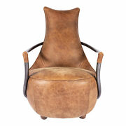 Moe's Home Carlisle Grazed Club Chair With Brown Leather Pk-1026-03