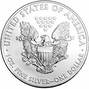 2020- American Silver Eagle .999 Fine Silver With Our Certificate Of Authenticiy