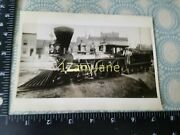 A148 Vintage Train Engine Photo Railroad Steam Engine With Cow Catcher On Front