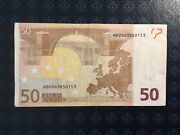 50 Euro Banknote Bank Of Slovenia Trichet Sign 2005