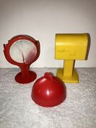 Vtg 1970s Mickey Mouse Clubhouse Set Weebles Mailbox + Light, Replacement Parts