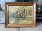 Robert Wood Painting The Old Grist Mill Cabin Decor Aaron Bros Reproduction