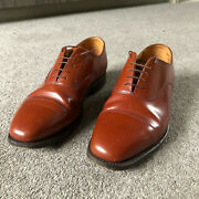 Mens Vintage Oxford Shoes Sanders Tan Leather Officers. Size 7