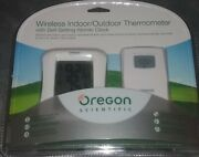Oregon Scientific Wireless Indoor/outdoor Thermometer W/ Atomic Clock Rmr682a