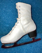 Figure 8 Traditional White Ice Skating Skate Pond Rink Just The Right Shoe Eight