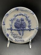 Rowe Pottery Works Plate 2 Two Turtle Doves 12 Days Of Christmas Wall Hanging