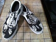 Off The Wall Mens Black And White Sneakers Size 9
