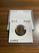 1911-s Lincoln Wheat Penny Cent 1c Almost Uncirculated/uncirculated Au/unc