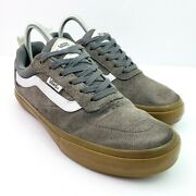 Pro Off The Wall Mens Size 7.5 Gray Leather Ultra Cush Lace Low Skate Shoes