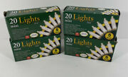 4 Packs New Holiday 5 Ft Christmas Mini Christmas 20 Lights Green Wire Clear