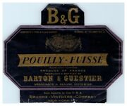 Pouilly-fuisse B And G Barton And Guestier Wine Bottle Label L11