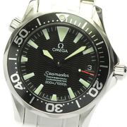 Omega Seamaster300 2252.50 Black Dial Automatic Boyand039s Watch_637923