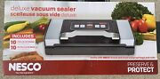 Nesco Deluxe Vacuum Sealer - 110 Watts - Stainless - With 20 Bags - Brand New