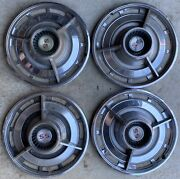 1963 Chevrolet Ss Spinner Hub Caps 14 Set Of 4 Chevy Hubcaps Wheel Covers 63