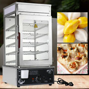 5-layer Commercial Bun Steamer Bread Heater Electric Food Display Warmer Cooker