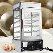 5 Layer Bun Steamer Electric Commercial Food Warmer Cooker Food Display Machine