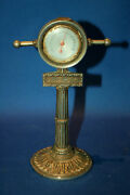 A Vintage Shipeand039s Telegraph Shaped Desktop Thermometer As Found Cast Metal