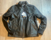 6695 Authentic Black Calf Skin Removable Hoodie Leather Jacket 52