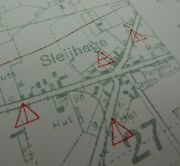 Ww1 1917 3rd Battle Of Ypres Related Infantry Trench Map Staden