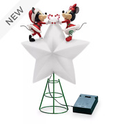 Disney Mickey Minnie Mouse Holiday Cheer Light Up Christmas Tree Topper Star