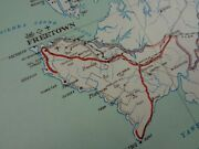 Ww2 Restricted German Map Of W. Africa Showing Freetown British Naval Base