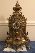 Vintage Fhs Franz Hermle And Son Germany Ornate Brass Clock Purchased Mid 1980and039s