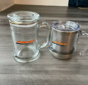 Bnsf Railroad Mug Cup Lot New Glass Stainless