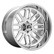 22 Inch 6x5.5 4 Wheels Rims 22x12 -43mm High Luster Polished Fuel 1pc D721