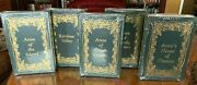 5 Vol Easton Press Leather Book Set Anne Of Green Gables L.m Montgomery Mint New