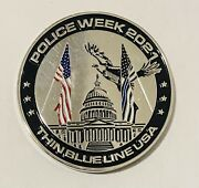 Sought After-unique-2021 Police Week-thin Blue Line-police Challenge Coin