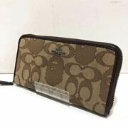 Bathing Ape Coach Long Wallet Game Avacing Bape Collaboration Round Fasteners