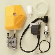 Carb Filter Ignition Coil For Husqvarna 50 51/55 Rancher Chainsaw Walbro Wt-170