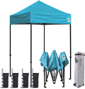 Eurmax 5'x5' Ez Pop Up Canopy Tent Commercial Instant Canopies With Heavy Duty R