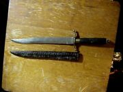 Antique Mexican American Southern Civil War Bowie Knife Marked Fernando Texas