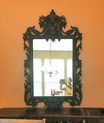 Antique Kudus Hand Carved Teak Wood Mirror Wall Decoration By Artisan Mr001