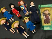 Large Mixed Lot Eden Toys Co Madeline Dolls And Friends, With Accessories/cloths