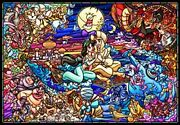 Tenyo 1000 Pieces Jigsaw Puzzle Aladdin Story Stained Glass [pure White]