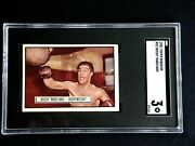 1951 Topps Rocky Marciano Rookie Card 32 Sgc Graded 3 Very Good Ringside Rare