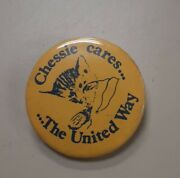 Chessie System Cat Cando Railroad Chessie Cares The United Way Button Pin Back